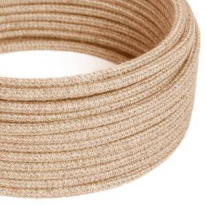 Ronde flexibele electriciteit textielkabel van jute RN06