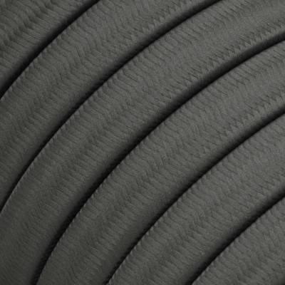 Met textiel omweven 220 V prikkabel, grijs viscose CM03