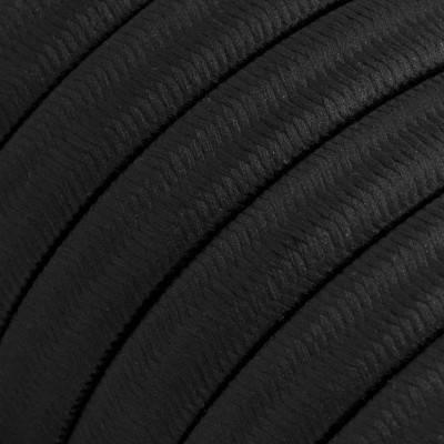 Met textiel omweven 220 V prikkabel, zwart viscose CM04