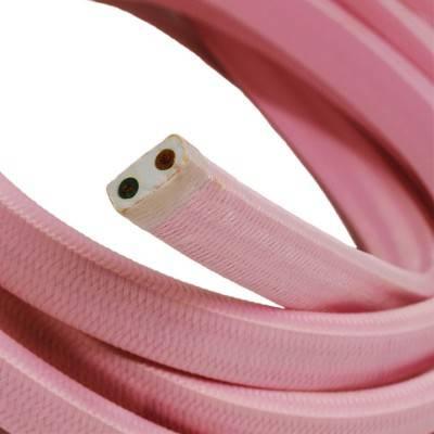 Câble électrique pour Guirlande recouvert en tissu Effet soie Rose Baby CM16