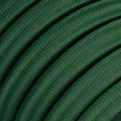 Met textiel omweven 220 V prikkabel, donkergroen viscose CM21