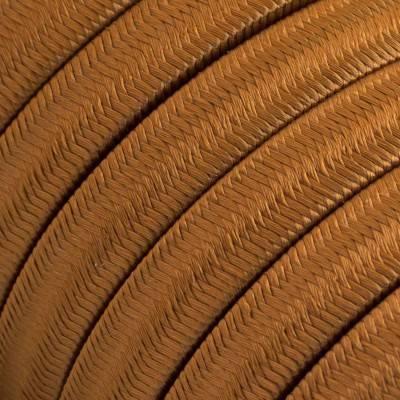 Câble électrique pour Guirlande recouvert en tissu Effet soie Whiskey CM22