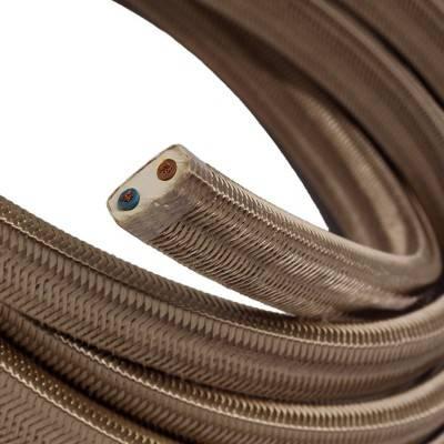 Met textiel omweven 220 V prikkabel, cipria viscose CM27