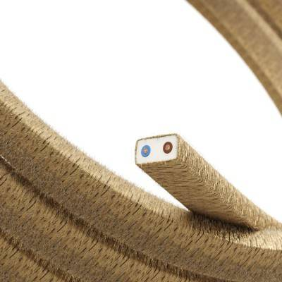 Met textiel omweven 220 V prikkabel, jute CN06