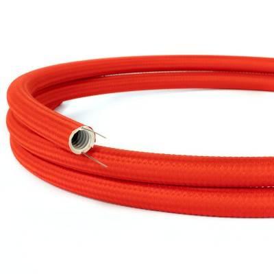 Creative-Tube, tube flexible avec revêtement tissu Effet Soie Rouge RM09, diamètre 20 mm