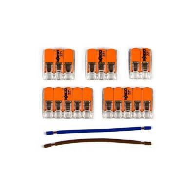 WAGO verbindingskit compatibel met 2x kabel voor 5-gaats Aansluitkap