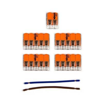 Kit de connexion WAGO compatible avec câble 2x pour Rosace à 6 trous