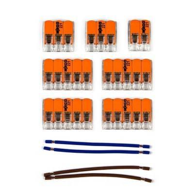 WAGO verbindingskit compatibel met 2x kabel voor 8-gaats Aansluitkap