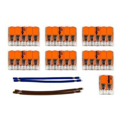 Kit de connexion WAGO compatible avec câble 2x pour Rosace à 9 trous
