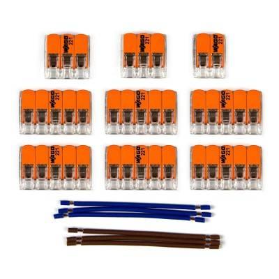 Kit de connexion WAGO compatible avec câble 2x pour Rosace à 11 trous