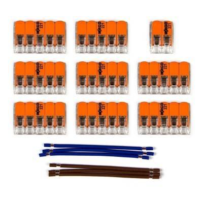 Kit de connexion WAGO compatible avec câble 2x pour Rosace à 12 trous