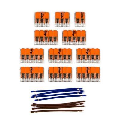 Kit de connexion WAGO compatible avec câble 2x pour Rosace à 14 trous