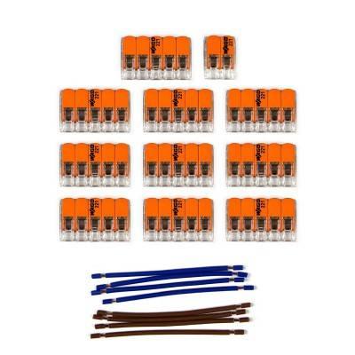 Kit de connexion WAGO compatible avec câble 2x pour Rosace à 15 trous