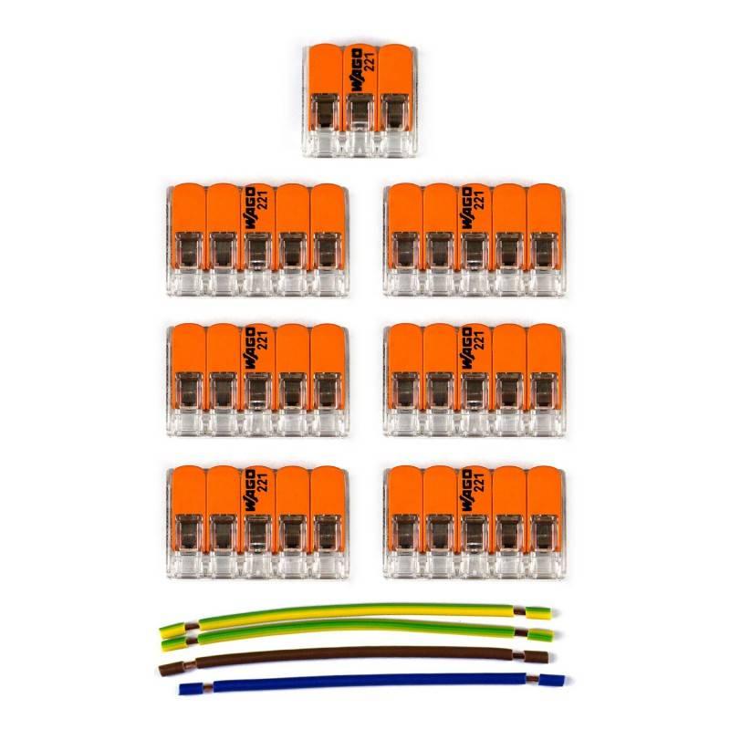 Kit de connexion WAGO compatible avec câble 3x pour Rosace à 6 trous