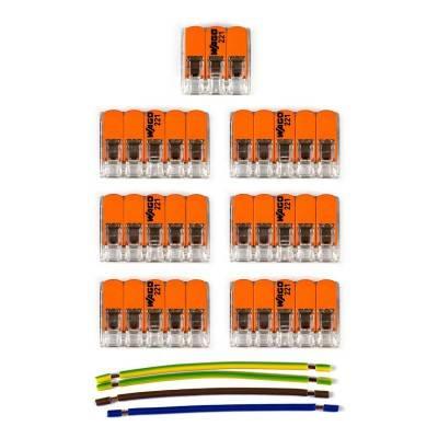 WAGO verbindingskit compatibel met 3x kabel voor 6-gaats Aansluitkap