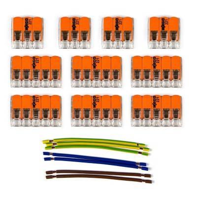 WAGO verbindingskit compatibel met 3x kabel voor 8-gaats Aansluitkap