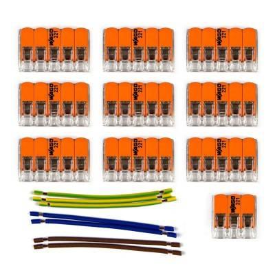 WAGO verbindingskit compatibel met 3x kabel voor 9-gaats Aansluitkap