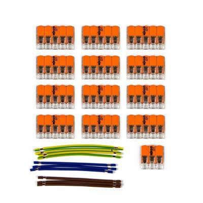 Kit de connexion WAGO compatible avec câble 3x pour Rosace à 12 trous