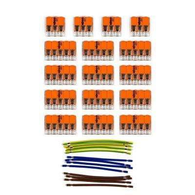 Kit de connexion WAGO compatible avec câble 3x pour Rosace à 14 trous