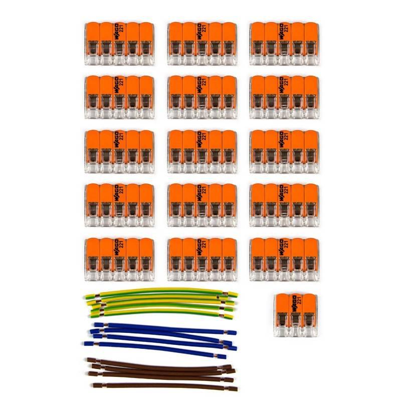 Kit de connexion WAGO compatible avec câble 3x pour Rosace à 15 trous