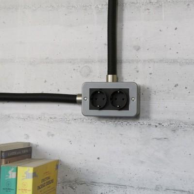 Dubbele metalen opbouw wandcontactdoos voor Creative-Tube