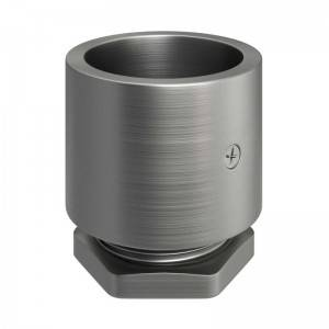Verzinkte metalen aansluitdop met schroefdraad voor 20 mm. Creative-Tube, schroefklemmen meegeleverd