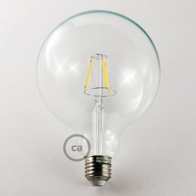 Vintage niet dimbare decoratieve 4W LED lamp met kooldraad effect Globe XL G125 helder warm licht