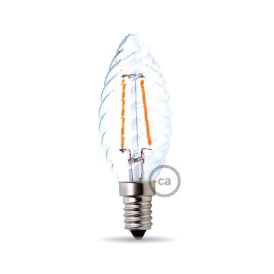 Light bulb filament Led Tortiglione 4W E14 Clear