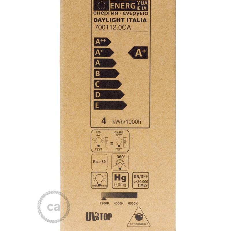 LED lichtbron transparant - Edison ST64 lange kooldraad 4W decoratief vintage 2200K