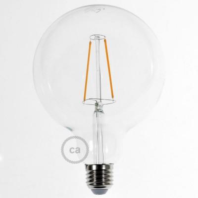 LED lichtbron transparant - De Globe G125 met lange kooldraad 4W decoratief vintage 2200K