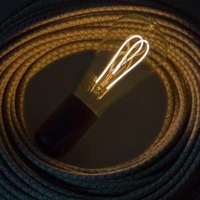 LED lichtbron transparant - Edison ST64 gebogen dubbele lus kooldraad - 5W E27 dimbaar 2200k