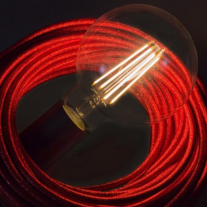 LED lichtbron transparant - Globe G95 lange kooldraad - 7.5W E27 decoratief vintage dimbaar 2200K