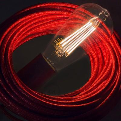 LED lichtbron transparant - Edison ST64 lange kooldraad - 7.5W E27 decoratief vintage dimbaar 2200K