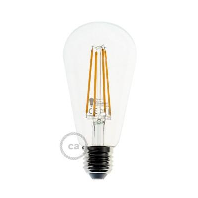 Ampoule Transparente LED - Edison ST64 Filament Long 7.5W E27 Vintage Décorative Dimmable 2200K