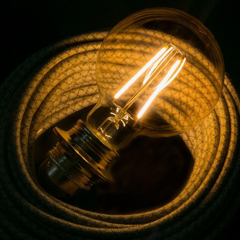 Ampoule Dorée LED - Globe G95 Filament Long 4W E27 Vintage Décorative 2000K