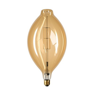 Ampoule LED Dorée XXL Fusée BT180 11W E27 Dimmable 2000K
