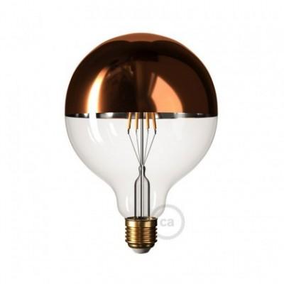 Koper kopspiegel Globe G125 LED lichtbron 7,5W E27 2700K dimbaar