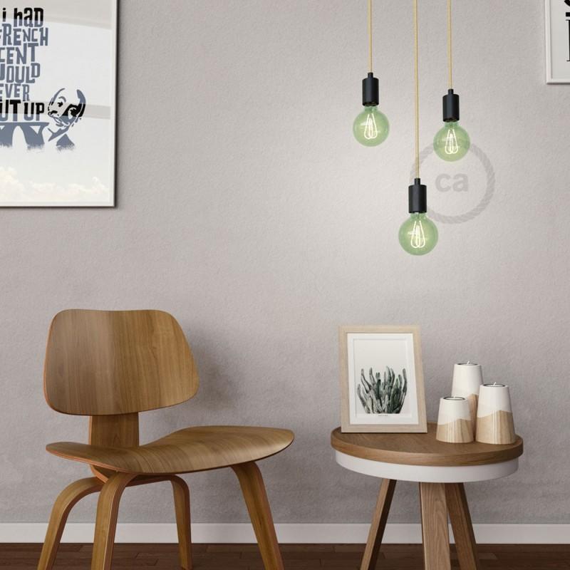 Ampoule Émeraude LED Globe G95 Filament Courbe à Double Loop 5W E27 Dimmable 2200K
