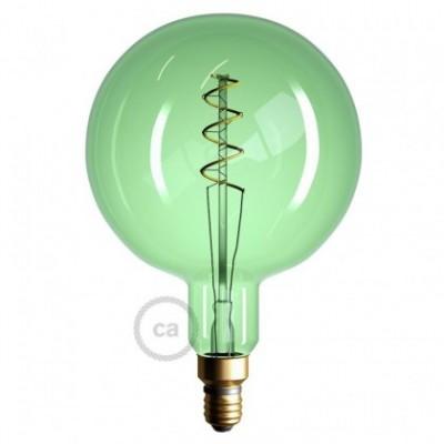 Ampoule Émeraude XXL LED - Sphère G200 Filament courbe avec Double Spirale 5W E27 Dimmable 2200K