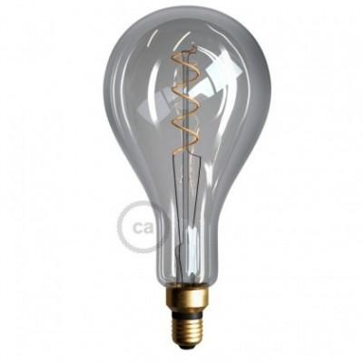 Ampoule Smoky XXL LED - Poire A165 Filament courbe avec Double Spirale 5W E27 Dimmable 2000K