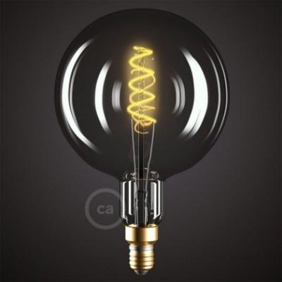 Ampoule Smoky XXL LED - Sphère G200 Filament courbe avec Double Spirale 5W E27 Dimmable 2000K
