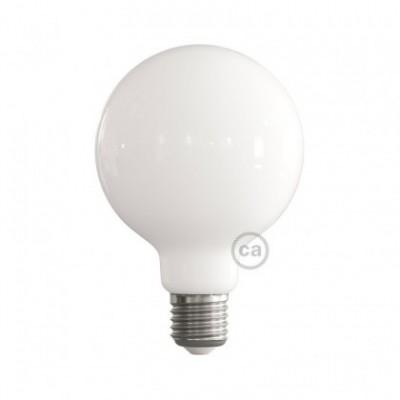 Ampoule LED blanc lait - Globe G95 - 7.5W E27 Dimmable 2700K