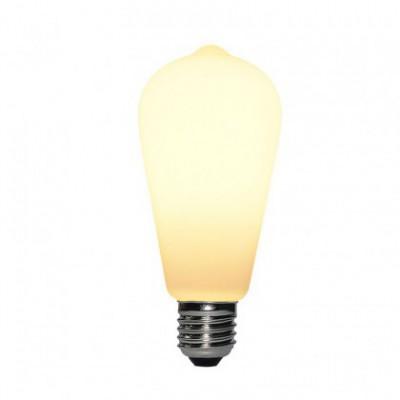 LED lichtbron porselein ST64 6W E27 dimbaar 2700K