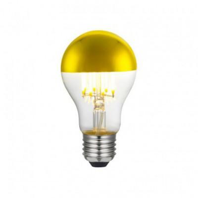 Gouden kopspiegel A60 LED-lamp 7W E27 2700K dimbaar