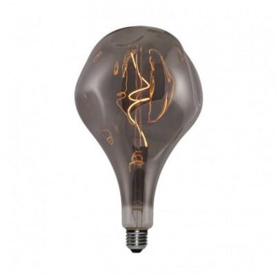 Ampoule XXL LED Poire A165 Cabossée Smoky filament à spirale 5W E27 Dimmable 2000K