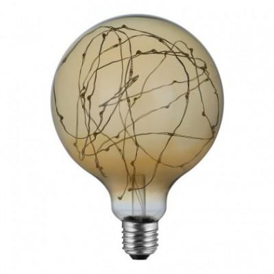 "LED Globo G125 lichtbron - ""A thousands lights"" goud 2W E27 2000K"