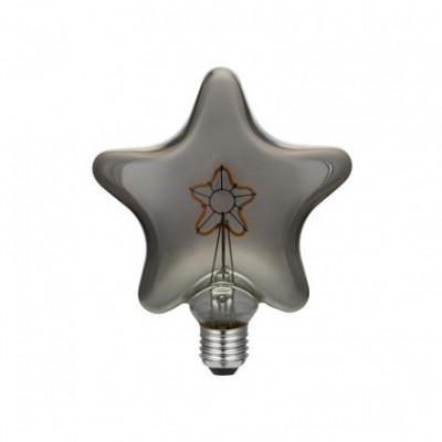 Ampoule LED Star Smoky avec filament en étoile - 3W E27 2000K gradable