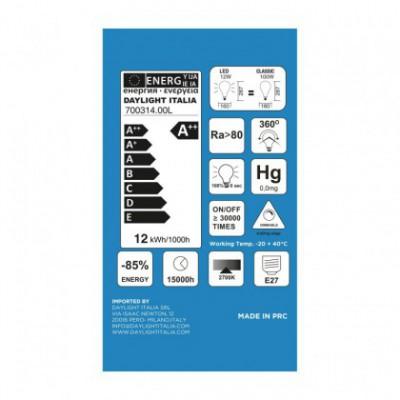 Ampoule Milky LED XXL Poire A165 12W E27 2700K Dimmable