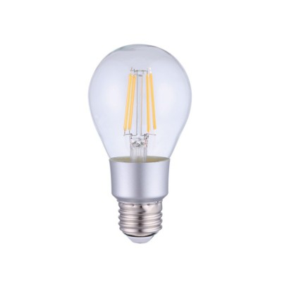 LED Smart Wifi A60 transparante rechte gloeilamp 6W E27 2700K