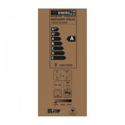 Edison ST64 LED lichtbron goedkleurige Croissant lijn met spiraal filament 5W E27 Dimbaar 2000K